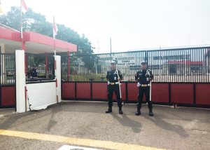 manned guard @ pos